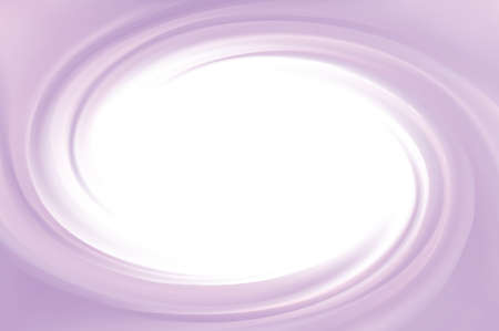 Glossy radial rippled curvy fond with space for text in glowing white center. Fluid surface. Appetizing yogurt of juicy fruits light indigo color: grape, currant, mulberry, bilberry