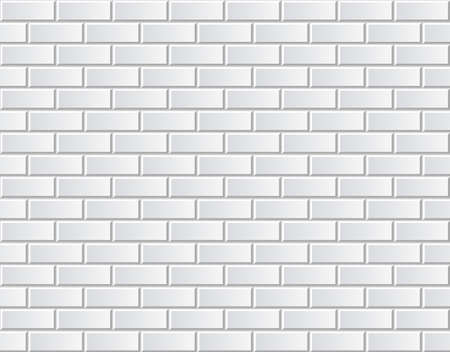 White brick wall seamless vector illustration background - texture pattern for continuous replicate Ilustração