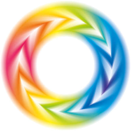 Abstract colorful background. Vector frame of the spiral curled rainbow spectrum
