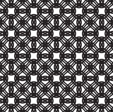 Tileable symmetry shape dark color thin bent stripes. Curvy form template in art retro style 矢量图像