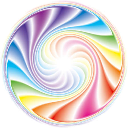Abstract frame of the spiral curled rainbow spectrum 免版税图像 - 157844423
