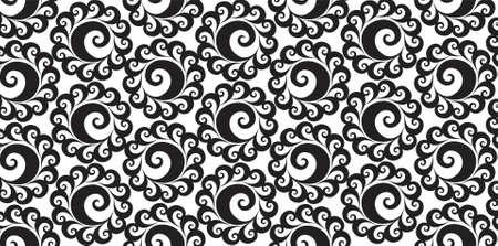 Bizarre vortex strand form dark color round shape twirl bow openwork on light paper fond. Cycle eddy whorl line loop weave helix. Black ink line swirly hand drawn design in art retro classic style 矢量图像
