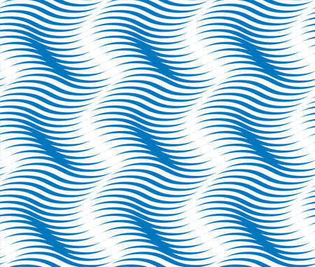 Tileable sinuous warp op twisty shape form tracery light sapphirine color with dark indigo squiggly bent strokes. billowy curvy wavelike meander winding style distorted template fond