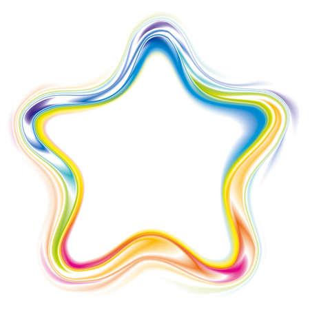 Vector decorative frame of a stylized rainbow stars 矢量图像
