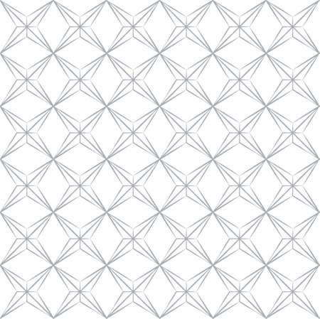 Tileable art quadrangle shape optical illusion op volumetric form template. Black and white periodic modular mesh gentle retro style shiny creative recurring concave zig zag torsion fan blades fond