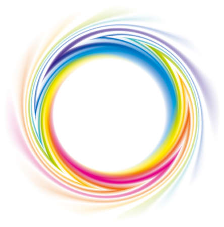 Abstract frame of the spiral curled rainbow spectrum