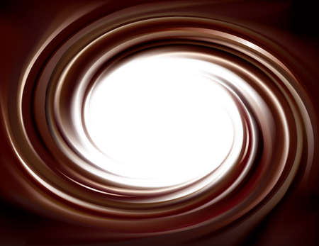 Vector wonderful mixed deep umber curvy backdrop. Beautiful volute fluid choco creamy surface with space for text in white center