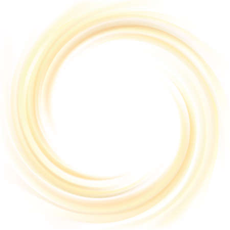 Vector yellow backdrop of swirling creamy texture with glowing white center in middle of funnel