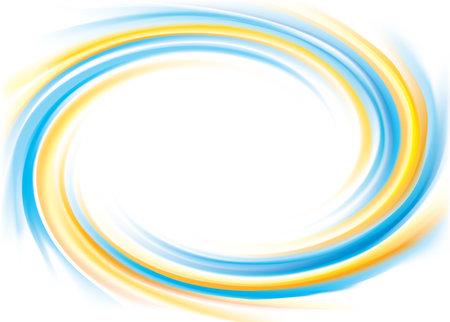 Vector curvy swirling illustration background. Ilustração