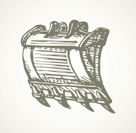 crane illustration background.
