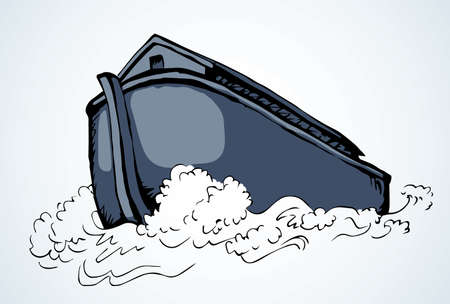 cargo ship illustration background.