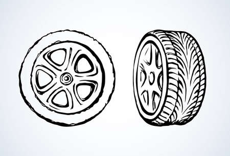 Wheels illustration background.