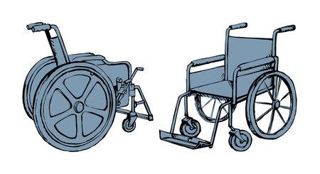 Wheelchairs illustration background.