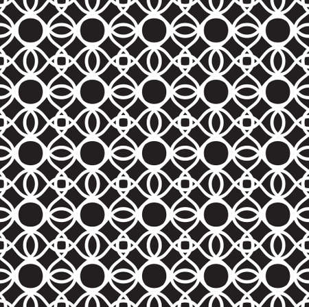 Tile able endless creative ornamental symmetry wavelike sinuous shape dark color squiggly bent trellis. Billowy curvy rounded form template in art retro style. Repetition of wavy thread