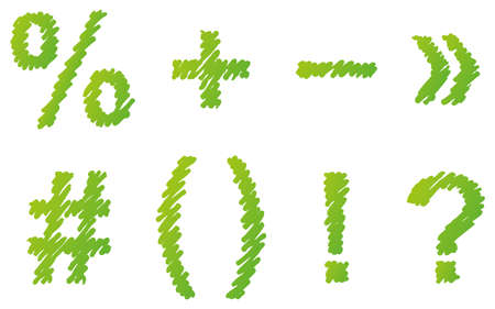 Vector hand-drawn font. Uppercase and lowercase letters of the Latin alphabet hatched marker 免版税图像