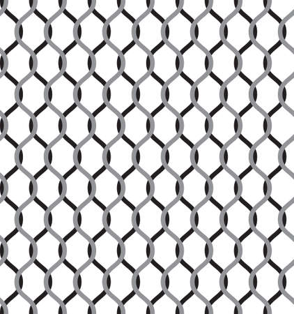 Tileable symmetry wavelike shape dark gray color squiggly thin bent stripes. Billowy curvy form template in art style 矢量图像