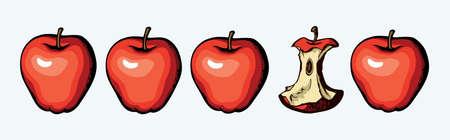 Bright hand drawn raw fresh botanic emblem pictogram design retro art doodle line print style. Close up view bio eco sweet health vegan autumn season plant seed flora growth white text space backdrop