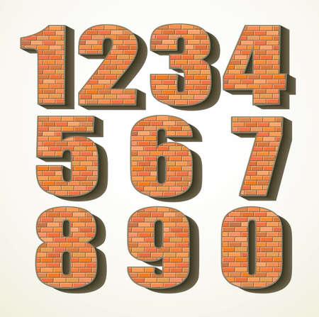 Big 3d rough bold red orange clay cube tile build facade mark decor play toy logo emblem set creative design retro cartoon art print face style. Closeup view white color interior typeset read backdrop
