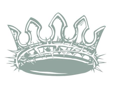 Deceit sad shame feel sharp spike branch savior lord god head lie bait trap. Black draw real fake good holy life happy joy reality sacred glory sign icon biblic truth history vector vintag graphic art