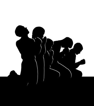 Kid boy guy sin sad problem sorrow worry supplicate divine love praise heaven soul logo concept. Dark black young adult catholic thank plead trust help palm arm body face art white gospel biblic style
