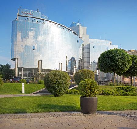 KYIV, UKRAINE - 2015 JUNE 15. Luxurious Hotel Hyatt Opens 5-Star Hotel (234 rooms) near Sofia Place