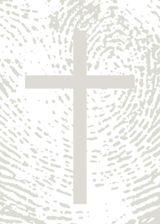 Closeup view old black saint pray man lord messiah savior rescue divine passion pain spirit life banner. Red ink line drawn holy forgiv logo mark retro biblic art light white paper text space backdrop