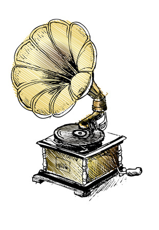 record player: Vintage Gramophone, Record player