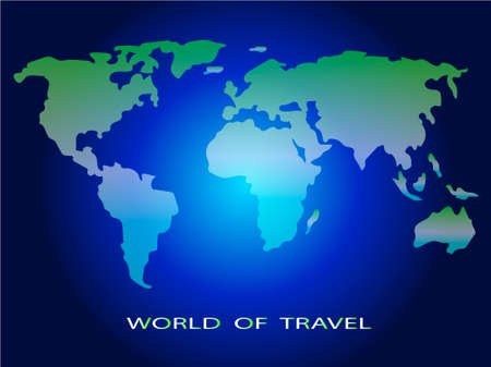 World of travel. Image of the world map. Vector illustration.