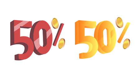 Image discount. Figures. Vector illustration. Reklamní fotografie - 85750297