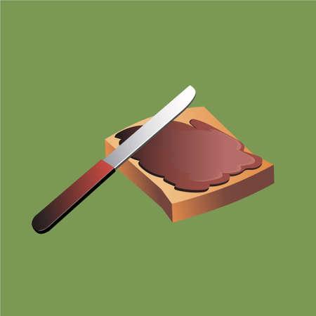 빵과 버터. 빵에 기름칠. 일러스트