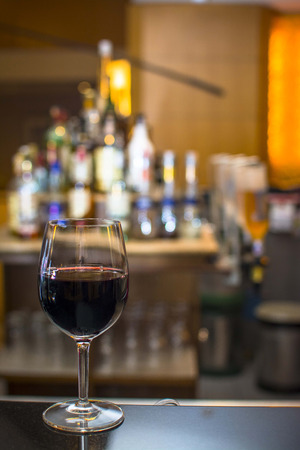red wine serve in lounge