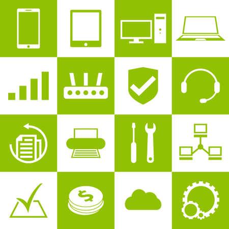 laptop repair: Ordenador, port�til y reparaci�n de tel�fonos inteligentes de servicio y soporte iconos