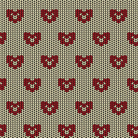 animal texture: Fabric flat line background seamless pattern with silhouette of bear or dog