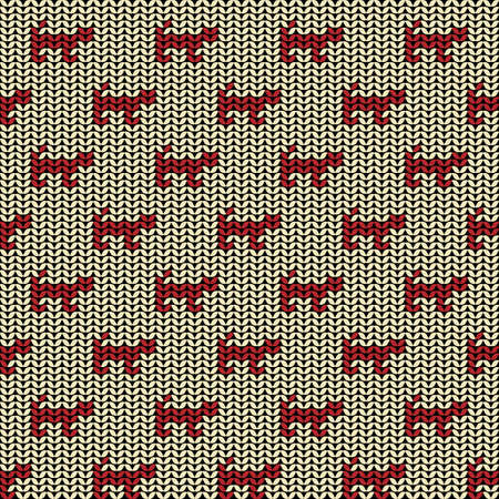 catlike: Fabric flat line background seamless pattern with silhouette of cat or tiger