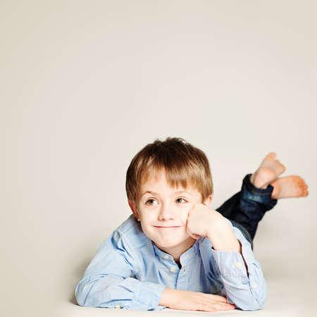 boy kid: Cute Smiling Child.