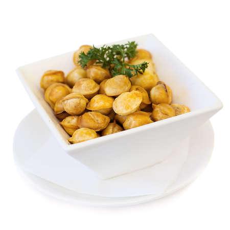 Ravioli on white plate