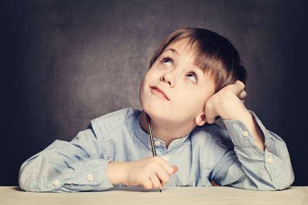 writ: School Boy Pupil Looking Up