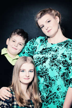 Portrait of Mother and Two Children.