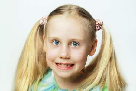 Smiling child - cute face, portrait Stock Photo