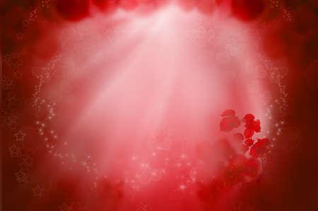 Fantasia sfondo rosso