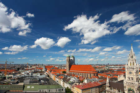bayern old town: Munich, Germany. Old town Stock Photo
