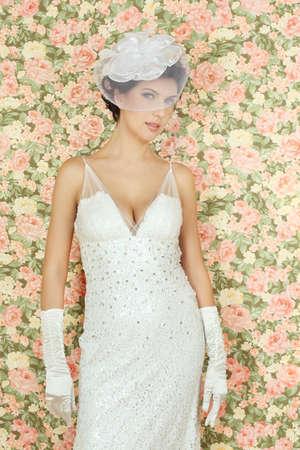 Fashion portrait of beautiful model Stock Photo