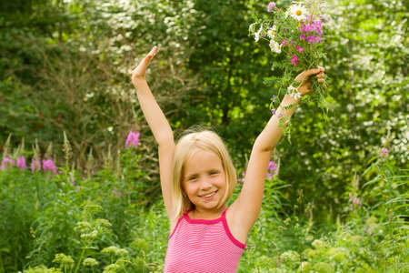 Happy Beautiful Girl having Fun