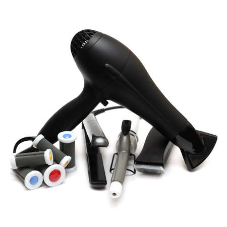 Barber equipment isolated - beauty salon tools