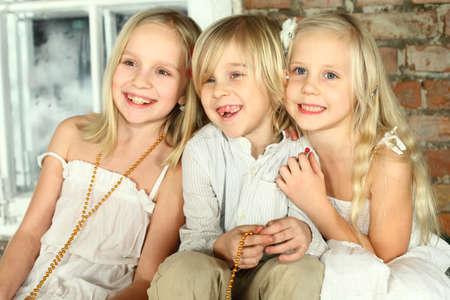 Happy children friends Stock Photo