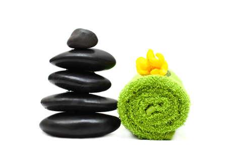 lastone therapy: Sauna concept - stones and towel