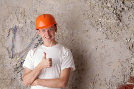 approx: Work electrician shows approx - ok. Stock Photo