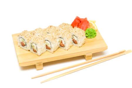 wasabi: Sushi, Wasabi and Ginger Isolated - Japanese Cuisine