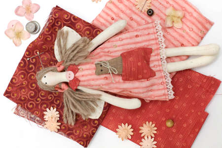 needle laces: Textile handmade doll and sewing accessory