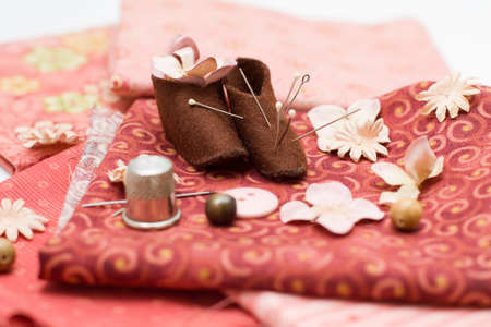 Art textile and sewing background Stock Photo